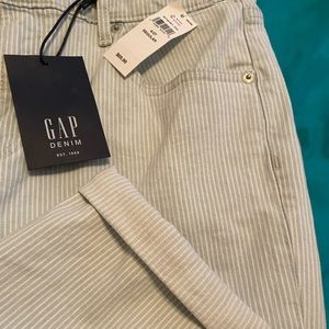 NWT pinstriped jeans